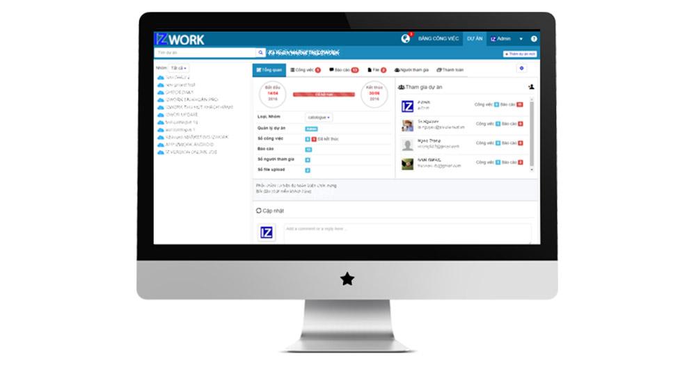 IZwork PMS- Phần mềm quản lý công việc online